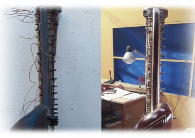 Empire Erard harp restoration 1