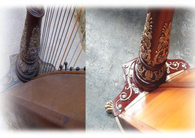 Empire Erard harp restoration 2