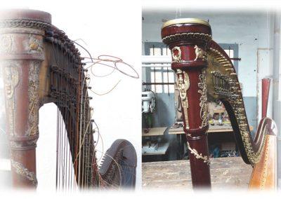 Empire Erard harp restoration 3