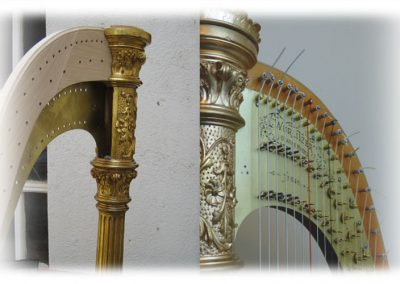 Neck wurlitzer harp making