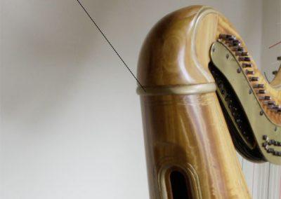 Capuchón tallado en Erard harp