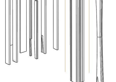Making pillar pedal harp