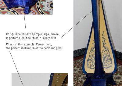 The concert harp pillar inclination