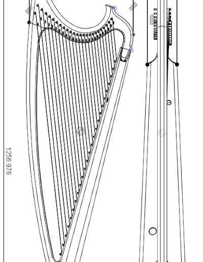 Gothic harp plan view