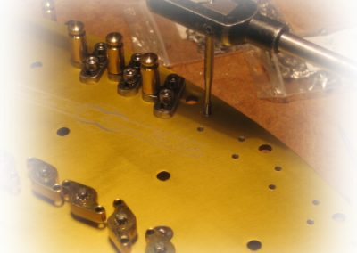 The single action pedal harp mechanism making