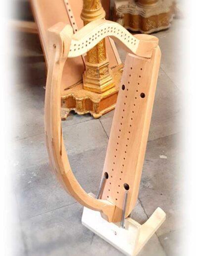 Arpa doble aragonesa. Double Aragón harp view