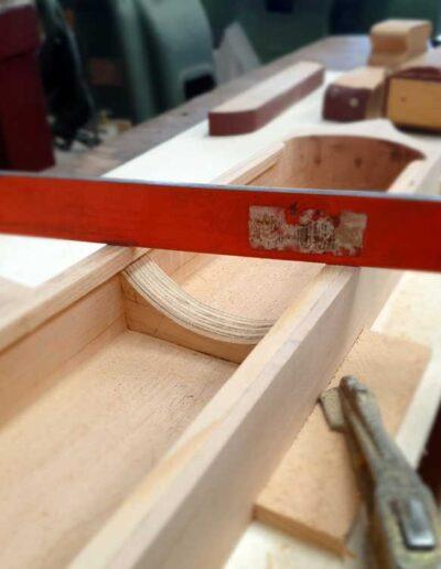 Medieval harp body making
