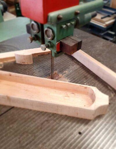 Body medieval harp making. Arpa doble medieval 2