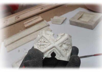 Réplicas de relieves para Arpas Erard