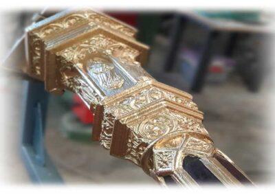 Nuevos relieves para el mástil de arpa Erard 1843