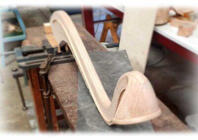 nuevo cuello para antigua arpa Erard